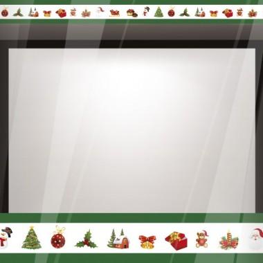 Vinilo Navidad Reposicionable Cenefa III decoración con vinilo