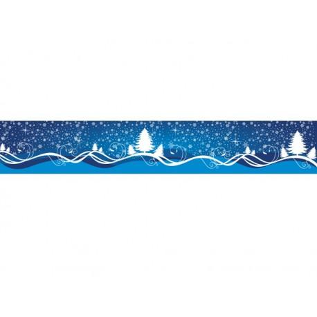 Vinilo Navidad Reposicionable Paisaje Nevado adhesivo decorativo ambiente
