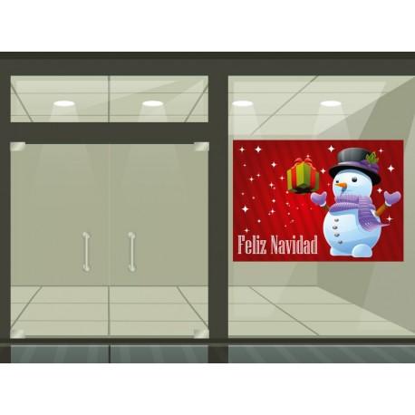 vinilo decorativo Vinilo Reposicionable Navidad Regalos