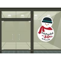 Navidad promoción vinilo reposicionable