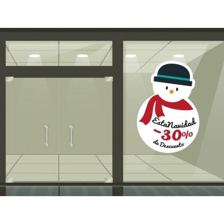 vinilos imagen producto Navidad promoción vinilo reposicionable