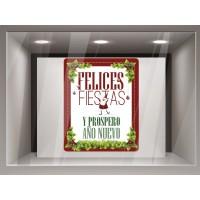 Vinilo decorativo Navidad- Reposicionable