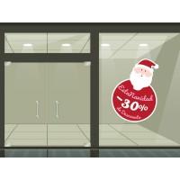Promoción Navidad vinilo- Reposicionable