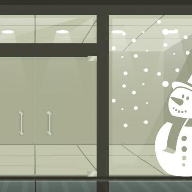 pegatina decorativa Nieve muñeco vinilo decoración