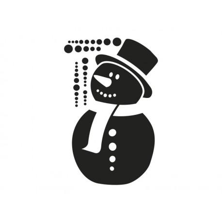 vinilos imagen producto Nieve muñeco vinilo decoración