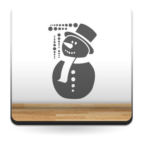adhesivo decorativo Nieve muñeco vinilo decoración
