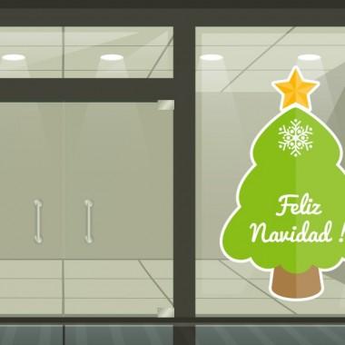 pegatina pared Navidad Árbol-Reposicionable
