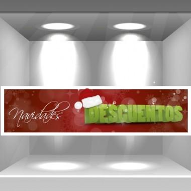 Navidad Reposicionable Vinilo Promocional decoración con vinilo