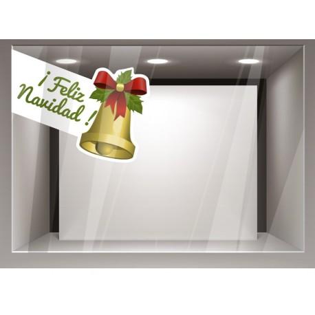 Decorativo navidad campana adhesivo decorativo ambiente