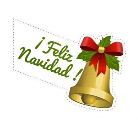 Decorativo navidad campana decoración con vinilo