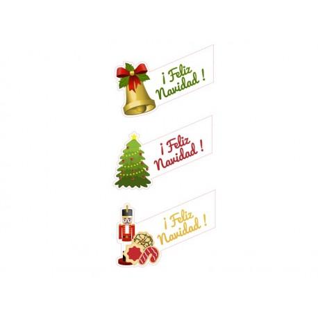 adhesivo decorativo Navidad bandas composición-Reposicionable