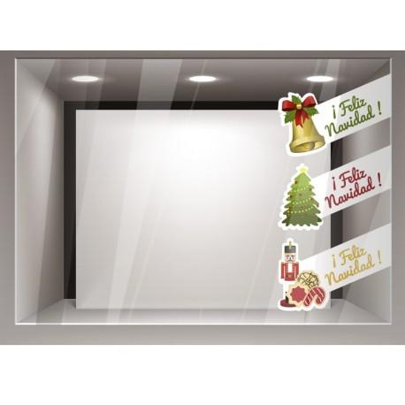 vinilos imagen producto Navidad bandas composición-Reposicionable