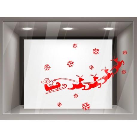 Papa Noel en Trineo adhesivo decorativo ambiente