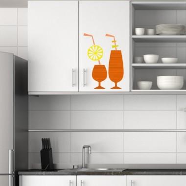 Copas Refrescantes Naranja imagen vinilo decorativo