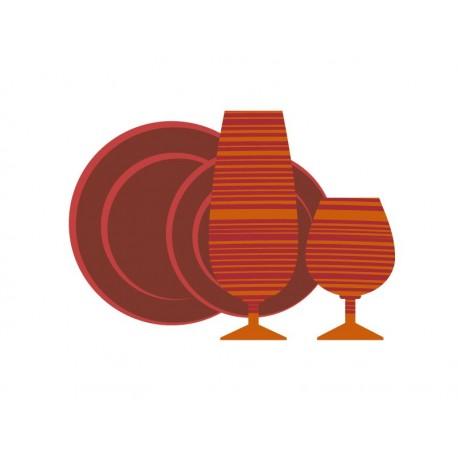 vinilo decorativo Vajilla Naranja