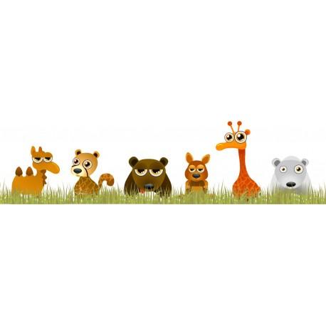 Familia Animales Selva en Pegatina adhesivo decorativo ambiente