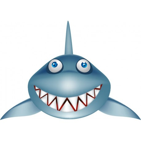 pegatina decorativa Tiburón Baja la Tapa
