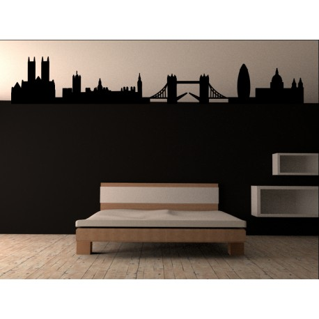 Skyline Londres para Cabecero adhesivo decorativo ambiente