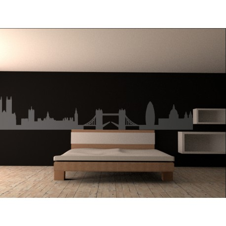 Vinilo skyline londres para cabecero for Vinilo decorativo madera