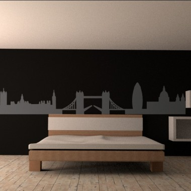 Skyline Londres para Cabecero imagen vinilo decorativo