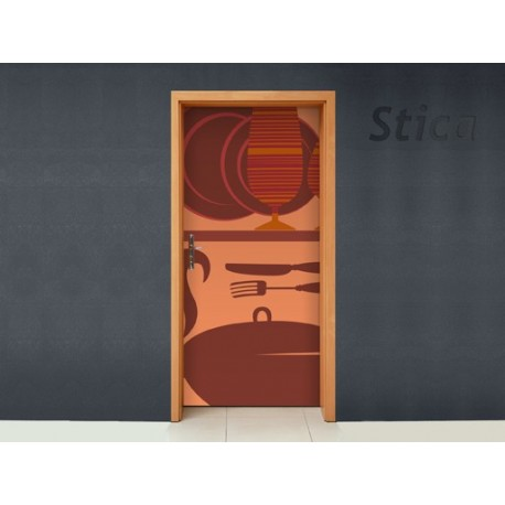 pegatina pared Puerta Oido Cocina