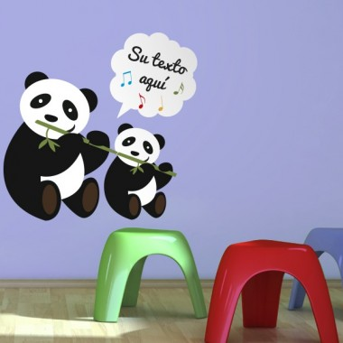 vinilos imagen producto Osos Panda canción