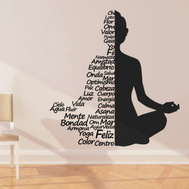 pegatina pared Yoga Namaste