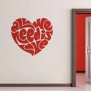 pegatina pared Todos necesitamos amor