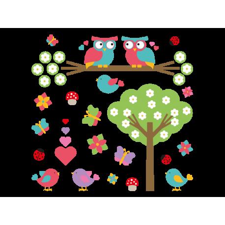 Bosque Encantado Composición decoración con vinilo