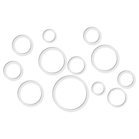 pegatina decorativa Circulos 3D composición
