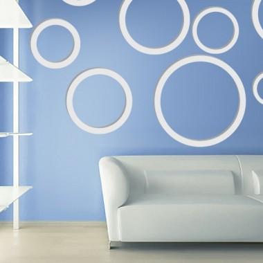 vinilo decorativo Circulos 3D composición