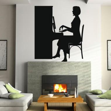 vinilo decorativo Clase de Piano