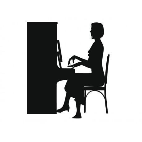 pegatina decorativa Clase de Piano