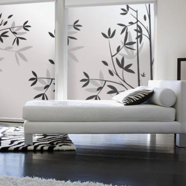 vinilo para ventanas Vinilo translúcido impreso bonitas hojas