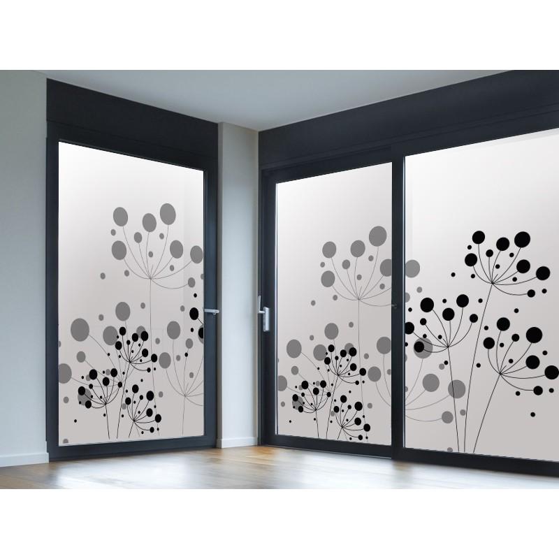 Vinilo translucido impreso floral - Cristales decorativos para puertas de interior ...