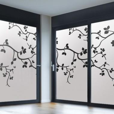 decoración de cristales Vinilo translúcido impreso enredadera II
