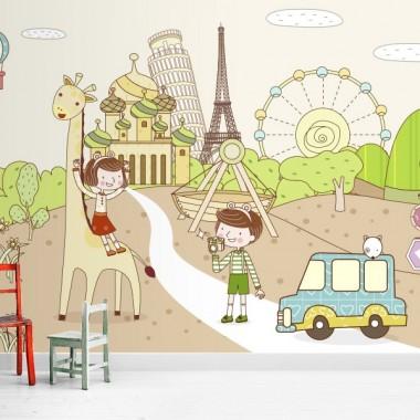 Fotomural  infantil Viajar es diver fotomural a medida