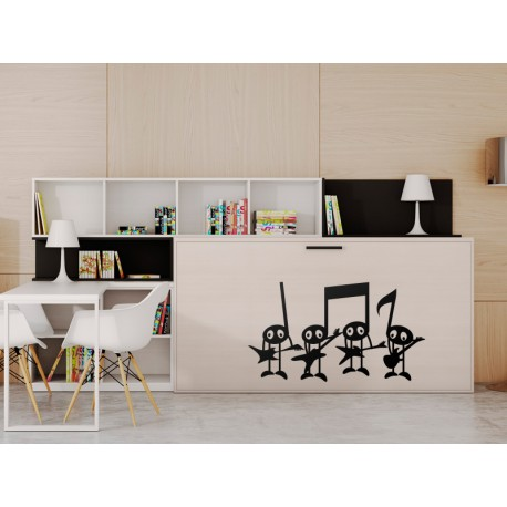 Notas Rock & Roll adhesivo decorativo ambiente