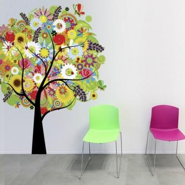 Color Natural troquelado imagen vinilo decorativo