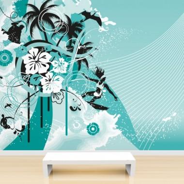Fotomural Surfeando adhesivo decorativo ambiente