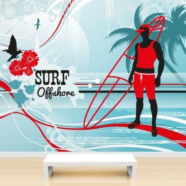 Fotomural Surfeando Offshore decoración con vinilo