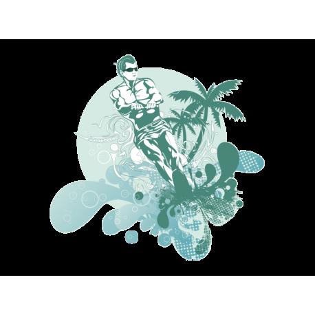 adhesivo decorativo Esquí acuático