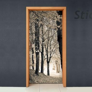 Vinilo Bosque para puerta -vinilos-decorativos