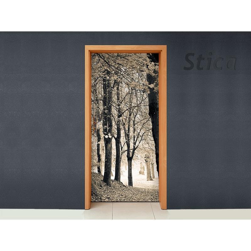 vinilo bosque para puerta