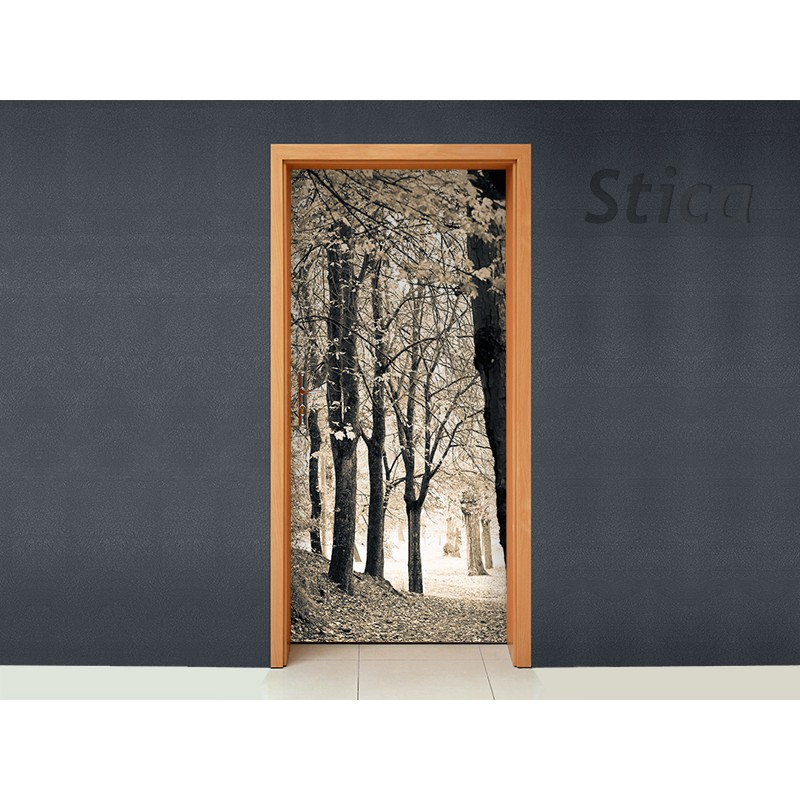 Vinilo bosque para puerta for Vinilo decorativo madera