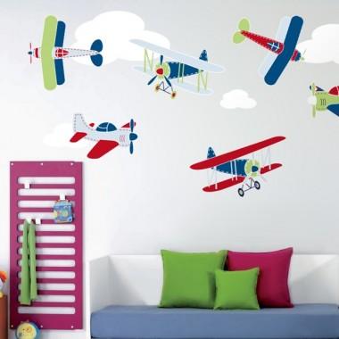 Volando  entre nubes  composición producto vinilos