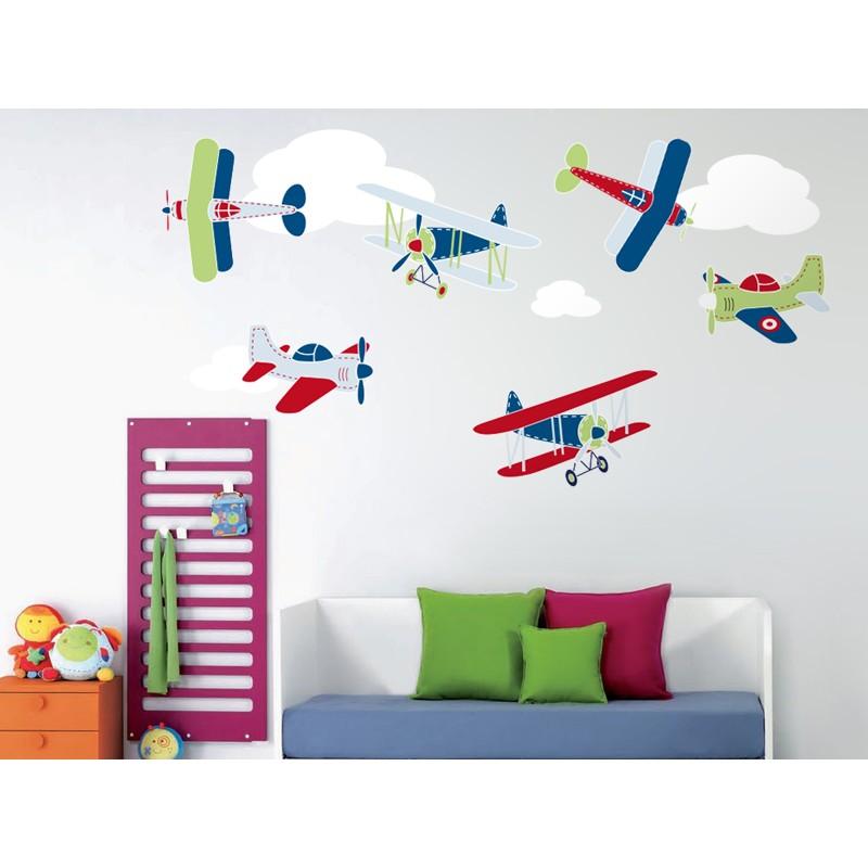 Vinilos infantiles vinilo volando entre nubes composici n for Vinilos para piezas