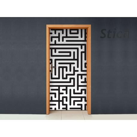 Vinilo Laberinto para puerta -vinilos-decorativos