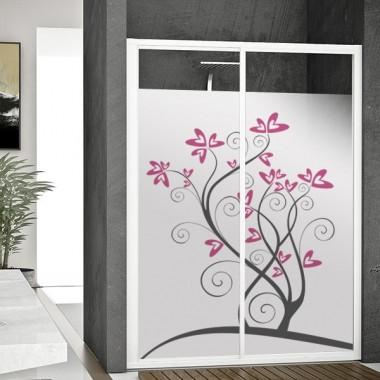 vinilo para cristales Vinilo translúcido impreso Floral en rosa