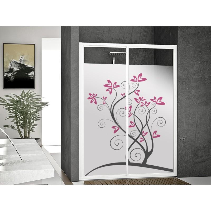 Vinilos decorativos vinilo transl cido impreso floral en rosa - Vinilo para vidrios ...
